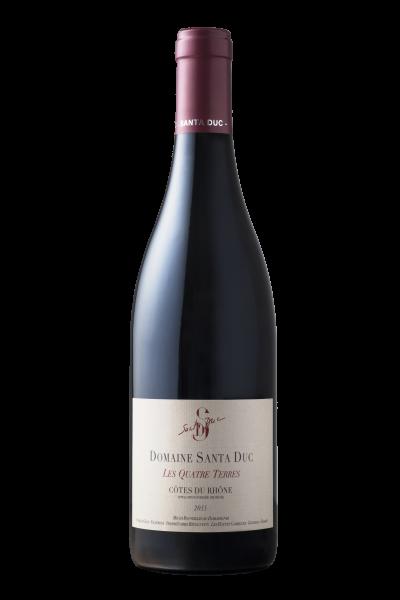 Santa Duc Côtes du Rhone Les Quattre Terres 2015 Frankreich Rhone Rotwein - BIODYN
