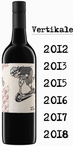 """Mollydooker Scooter """"Vertikale"""" - 6 Jahrgänge - je eine Flasche 2012,13,15,16,17 und 18"""