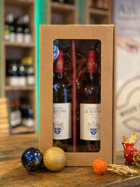 "2er PRÄSENT-BOX - ""Château Le Reysse - Bordeaux"" - 2 Flaschen in Geschenkbox"