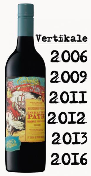 Mollydooker Vertikale Enchanted Path 2006, 09, 11, 12, 13, 16 Shiraz/Cabernet - 6 Flaschen