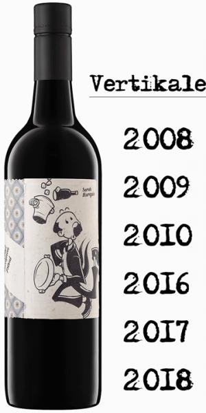 """Mollydooker Maitre D """"Verticale"""" - 6 Jahrgänge - je eine Flasche 2008,09,10,16,17 und 18"""
