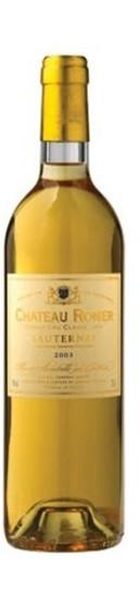 Chât. Romer Sauternes Grand Cru Classé 2011 Frankreich Bordeaux Weißwein
