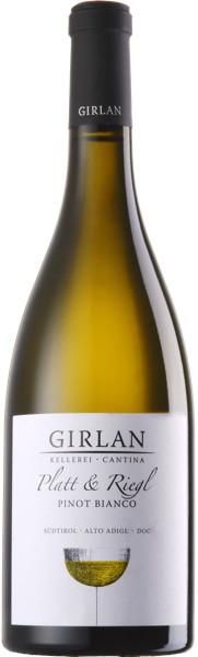 Girlan Pinot Bianco Platt & Riegel 2019 Italien Südtirol Weißwein