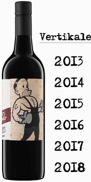 """Mollydooker Boxer """"Verticale"""" - 6 Jahrgänge - je eine Flasche 2013,14,15,16,17 und 18"""
