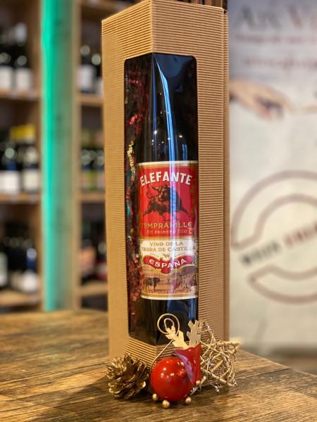 1er PRÄSENTBOX - Fourth Wave Wines ELEFANTE Tempranillo - 1 Flasche in Geschenkbox