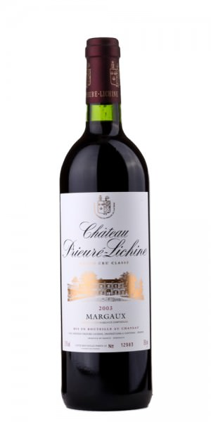Château Prieure Lichine Margaux Cru Bourgeois 2003 Frankreich Bordeaux Rotwein