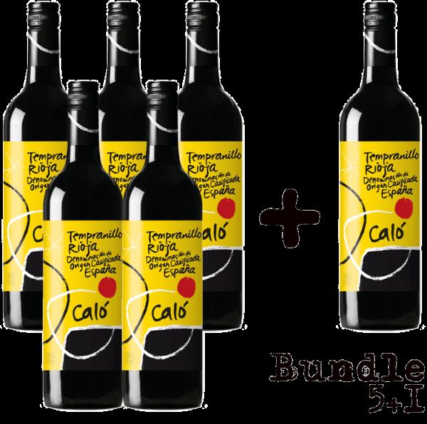 Bundle 5+1 - Fourth W. Wines Rioja Caló DOC 2016, Spanien, Rioja, Rotwein
