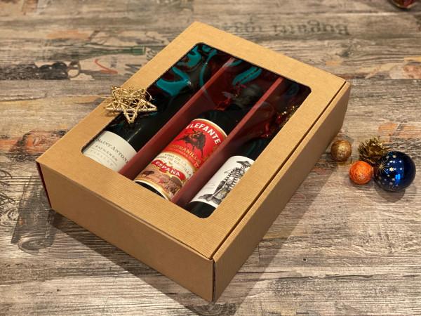 3er Geschenkbox Elefante, Take it und St. Antonin - 3 Flaschen Rotwein